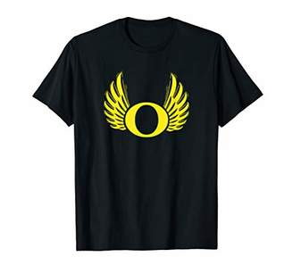 Letter O Oregon Game Day Cool Wings Fun Cool Duck Fan Gift T-Shirt