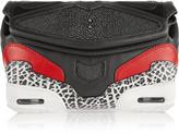 Alexander Wang Sneaker shagreen-paneled leather clutch