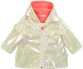Billieblush Girl's Iridescent Raincoat w/ Jersey Lining, Size 2-3