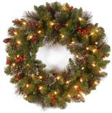 Crestwood National Tree Company 24 Spruce Wreath With Clear Lights