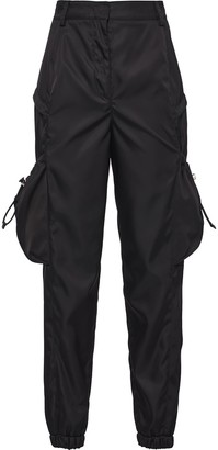 Prada High-Waisted Cropped Trousers