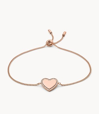 Fossil Be Mine Rose Gold-Tone Stainless Steel Chain Bracelet jewelry JF03361791