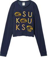 PINK Kent State University Long Sleeve Campus Cutout Tee