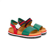 Gucci Kids - GG Web sandals - kids - Leather/rubber - 28