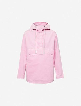 Benetton Hooded cotton-blend corduroy jacket