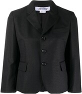 Comme des Garcons single-breasted fitted blazer