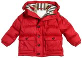 Burberry Hooded Nylon Down Jacket