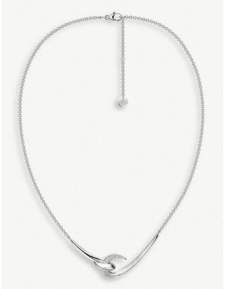 Shaun Leane Hook sterling silver diamond necklace