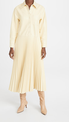 Jonathan Simkhai Makayla Vegan Leather Shirt Dress