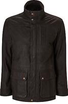 John Lewis Premium Leather Jacket, Dark Mahogany