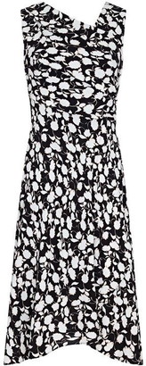 Adrianna Papell Draped Floral A-Line Dress