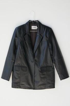 Deadwood Brooke Oversized Leather Blazer