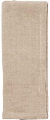 Indigo Washed Linen Napkins Flax Set of 4