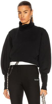 AGOLDE Extended Rib Sweatshirt in Black | FWRD
