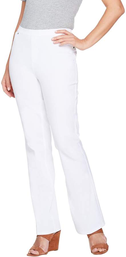 Halston H By H by Regular Studio Stretch Bootcut Pull-on Pants
