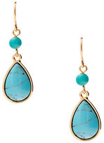Lauren Ralph Lauren Paradise Found Turquoise & 14K Gold-Plated Double-Drop Earrings