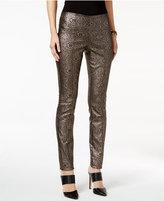 Alfani Metallic Paisley-Print Pants, Only at Macy's