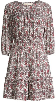 MICHAEL Michael Kors Abstract Scroll Smocked Dress
