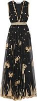 Diane von Furstenberg Vivanette embroidered tulle gown