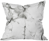 DENY Designs Marble Throw Pillow