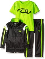 CB Sports Little Boys' Toddler 3 Piece Athletic Hoodie, T-Shirt, and Pant