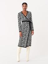 Diane von Furstenberg Stacey Jacquard Knit Midi Wrap Dress