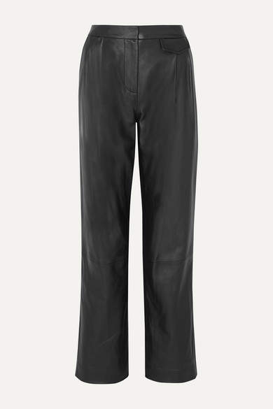 3.1 Phillip Lim Pleated Leather Pants - Black