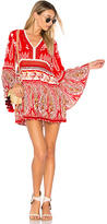 Raga Luisa Long Sleeve Tunic in Red