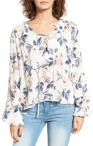 Somedays Lovin Women's Songs Of Summer Lace-Up Blouse