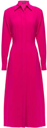 Joseph Turner Ribbed Silk Midi Shirt Dress