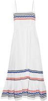 Lisa Marie Fernandez Rickrack-trimmed Linen Midi Dress - White