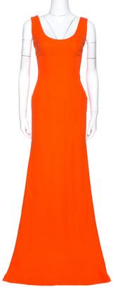 Victoria Beckham Tangerine Back Zipper Detail Gown M