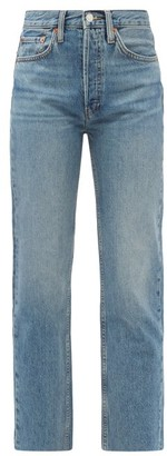 RE/DONE Rigid Stove Pipe High-rise Straight-leg Jeans - Denim