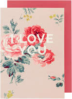 Cath Kidston Antique Rose I love you Greetings Card