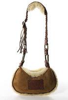 UGG Chestnut Brown Suede Shearling Lined Shoulder Handbag