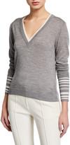 Veronica Beard Avory V-Neck Sweater