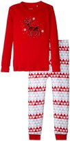 Petit Lem Holiday 2 Piece PJ Set (Toddler/Kid) - Red - 5
