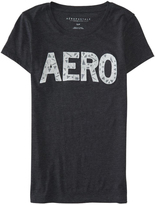 Aeropostale Womens Geo Lace Aero Graphic T Shirt