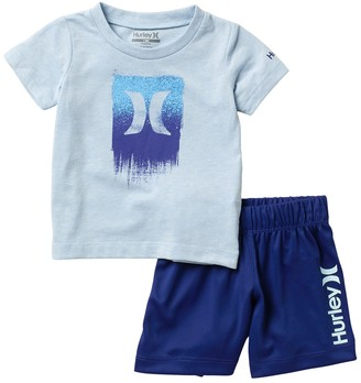 Hurley Dri-FIT Logo T-Shirt & Shorts Set (Baby Boys 12-24M)