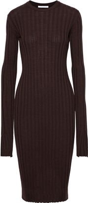 Helmut Lang Ribbed Wool Dress