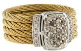 Charriol White Sapphire & Diamond Cable Ring