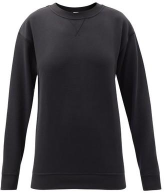 Lululemon All Yours Crew-neck Cotton-blend Jersey Sweatshirt - Black