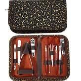 PU Beauty Pure Acoustics Steel Tweezer Clipper Scissor Manicure Pedicure Kit