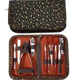 PU Beauty Pure Acoustics Women's Professional Steel Tweezer Clipper Scissor Manicure Pedicure Kit
