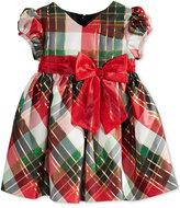 Bonnie Baby Baby Girls' Plaid Taffeta Dress