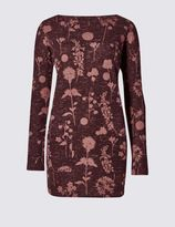 Marks and Spencer Dandelion Print Long Sleeve Tunic