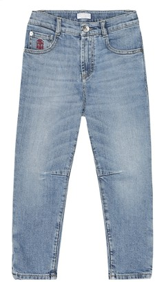 BRUNELLO CUCINELLI KIDS Stretch-cotton jeans