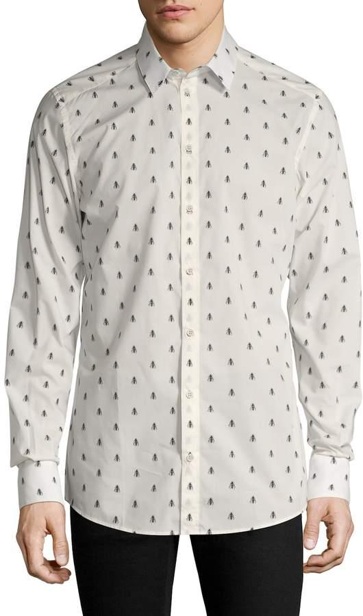 Dolce & Gabbana Men's Printed Sportshirt