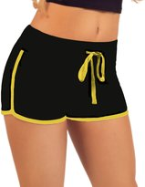 Hot From Hollywood Women's Elastic Waist Contrast Outline Active Lounge Shorts