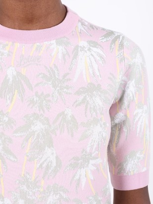 Loewe Pink Daisy Print Knitted Top